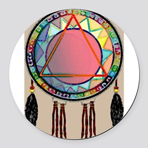 AllONEtribe Round Car Magnet